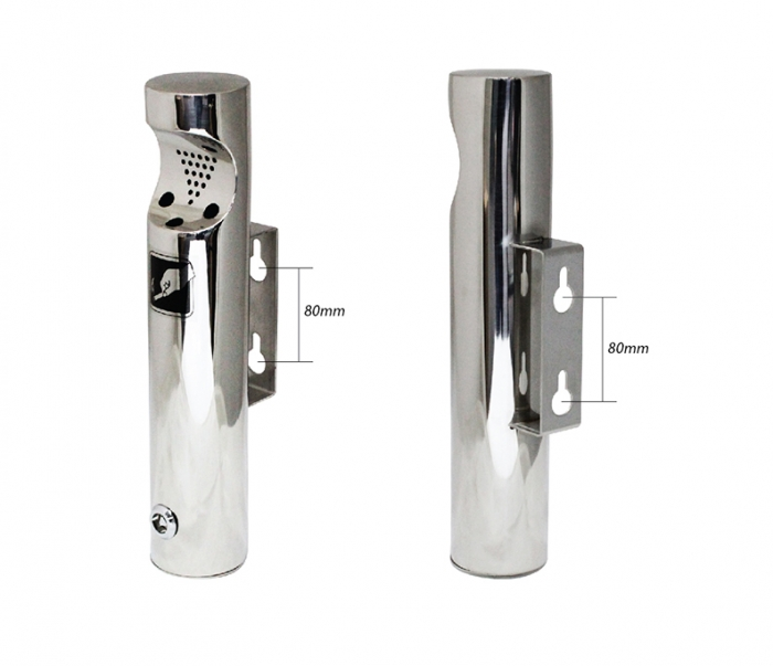 Stainless Steel material Wall Mounted Ashstray for cigarette end