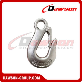 Stainless Steel 316 Drop Forged Eye Slip Hook, T316 Rigging Hardware