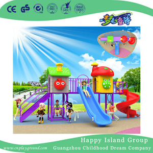 Preschool Colorful Plastic Slide Children Playground (BBE-A62)