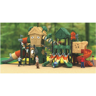 Outdoor Commercial Tree House Children Slide Playground (ML-2001201)