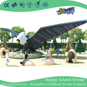 Outdoor Kindergarten Large Eagles Spreading Wings Combination Animal Playground (HHK-2801)