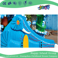 Water Game Equipment Blue Elephant Slide For Children (HHK-11107)