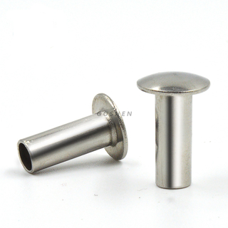 Stainless Steel a2 a4 2.5-3 Oval Head Semi-Tubular Rivets