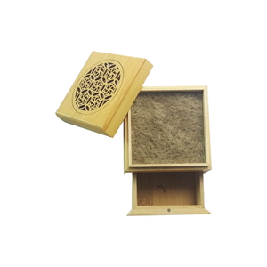 2020 Hight Quality Carved Bamboo Square Incense Burner
