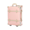 2020 New Fashion retro lightweight custom size LOGO faux leather travel suitcase for girls