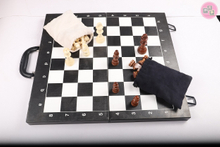 New Design Modern 3 in 1 Foldable Leather Wooden Chess Checkers Backgammon Board Game Set
