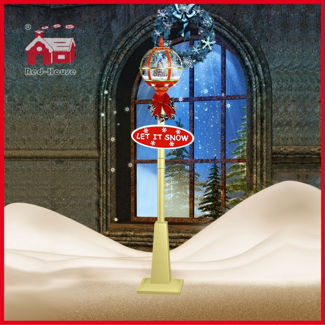 (LV30175W-RJJ11) Windmill Decoration Christmas Street Light with LED and Snow
