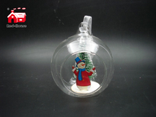 Christmas Decorative Glass Hanging Toys with Christmas Ornaments inside From Christmas Decoration Supplies