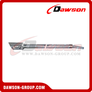 Combination Winch Bar With End Box - Mushroom Tip - Chrome - Flatbed Truck Winch Bars