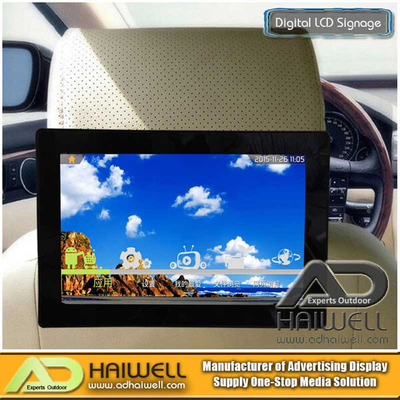 Taxi Media Car Seat Android LCD Advertising Screen