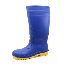 108-6 blue steel toe construction site pvc safety rain gumboots