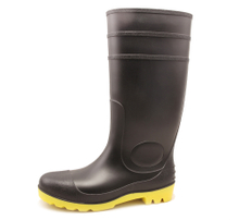 QH-002 black waterproof oil resistant pvc safety rain gum boots
