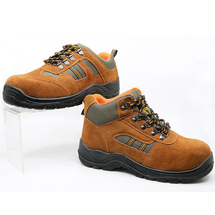 SD5003 oil resistant suede leather cheap safety work shoes