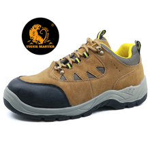 Low ankle cheap suede leather steel toe cap safety shoes