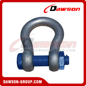 S6 Special Bow Shackle with Long Body, Grade 60 Bolt Type Anchor Shackle