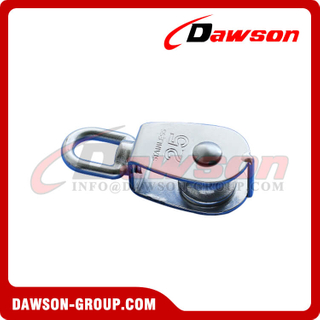 Stainless Steel Single Sheave Swivel Eye Pulley