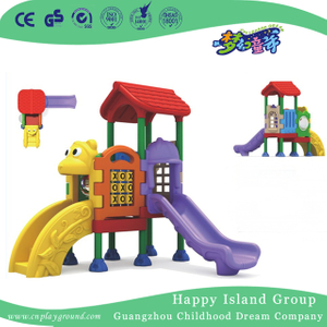 Simple Cartoon Plastic Small Slide Playground Equipment (ML-2009001)
