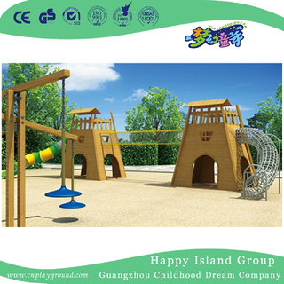 Amusement Park Wooden Castle Climbing Playground Equipment (HHK-1804)