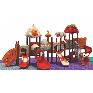 Outdoor Red Slide Cartoon Animal Playground With Climbing (ML-2005002)