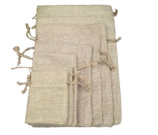 Wholesale Drawstring Jute Burlap Bag with Logo