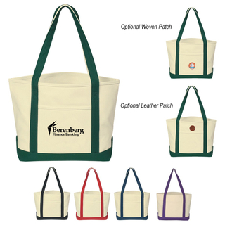 Ladies Canvas Tote Bag with Front Pocket (TP-TB137)