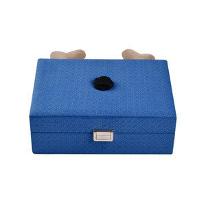 Fashion Rectangle Luxury Blue And Red Jewelry Jewelry Packaging Box for Women with Leather Elk Horn Decoration