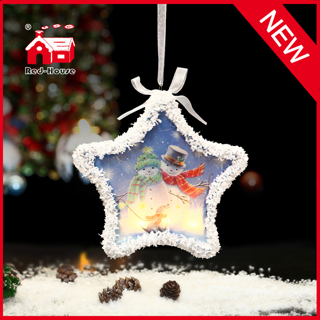 Decorative LED Holiday Motif Star Lights for Christmas Tree