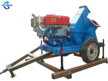 mobile wood chipper with diesel engine