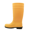 108-8 yellow steel toe pvc safety wellington rain boots