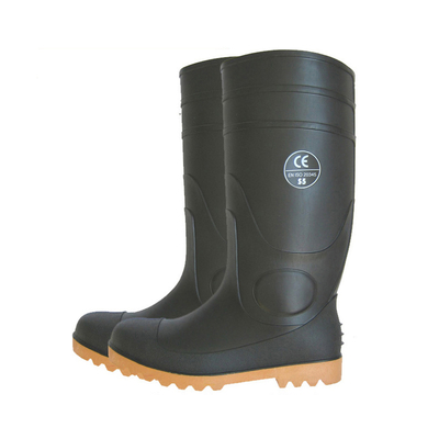 BNS CE approved oil resistant waterproof steel toe cap pvc rain boot work
