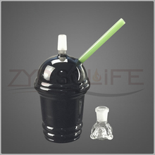 Black Starbucks Cup Glass Pipe of Sound Recycle Bin