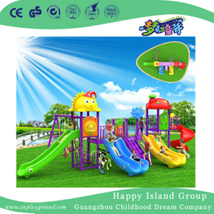 Cartoon Plastic Slide Children Playground For Garden (BBE-A69)