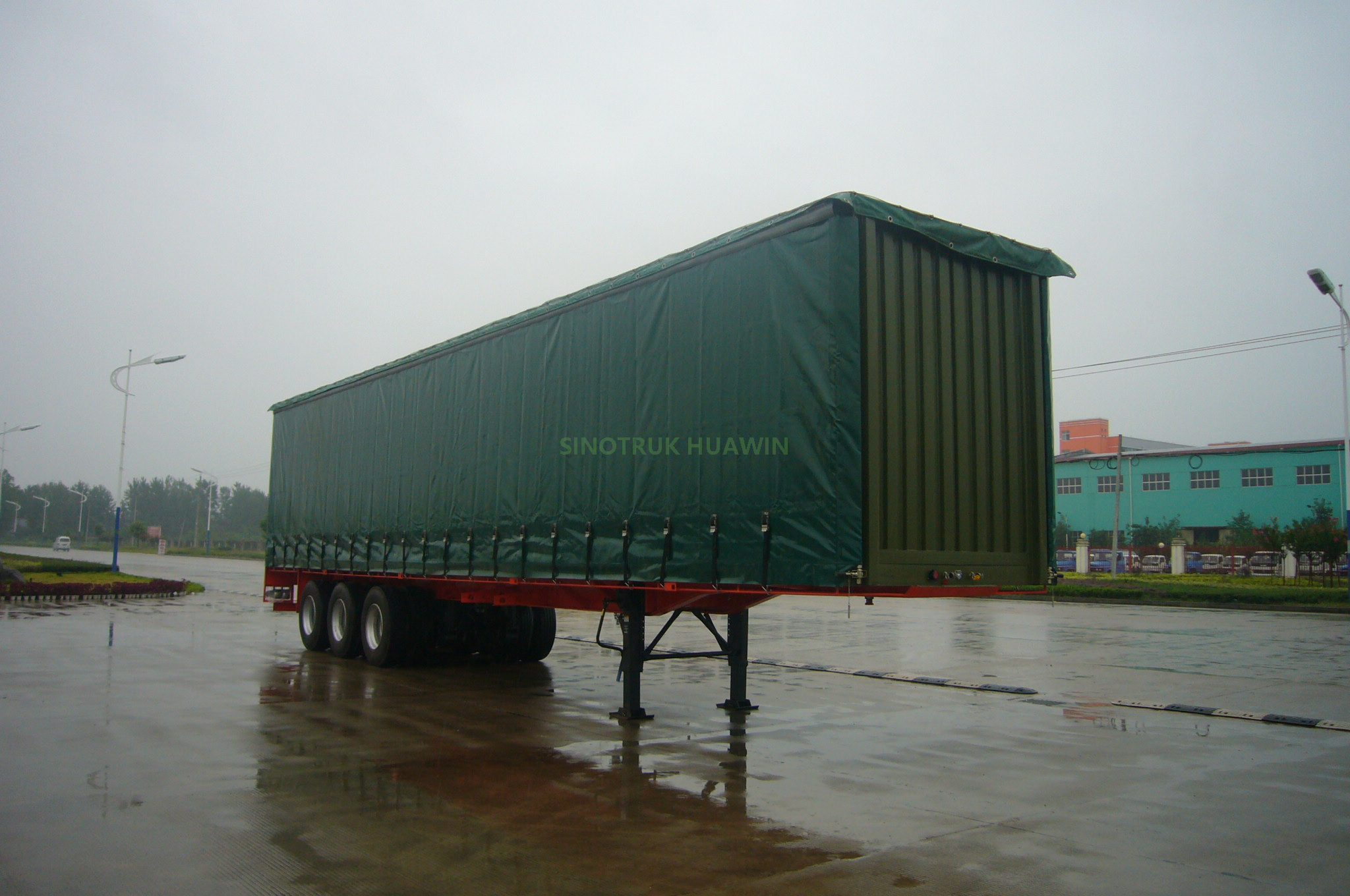 SINOTRUK 40FT 3 Axles Curtain Side Semi Trailer