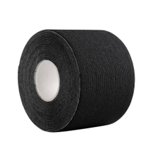 Black cotton knee kinesiology tape bulk roll