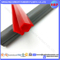 Red Food Grade Silicone Extruded Profiles