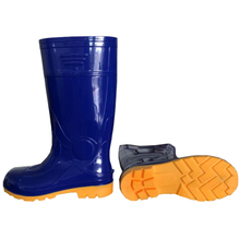 107-2 blue anti slip oil-proof steel toe glitter safety gumboots
