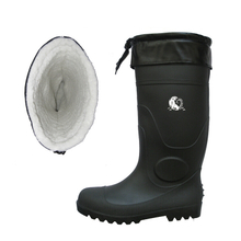 BBS-CF waterproof slip resistant steel toe cap winter safety boots pvc