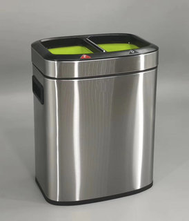 Rectangle 2in1 dustbin with 12Liter with open top (KL-8312)