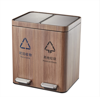 2in1 Pedal Control Dustbin for Indoor Use