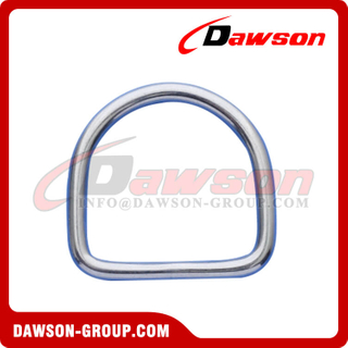 Welded D Ring, Stainless Steel 316 Welded D Ring