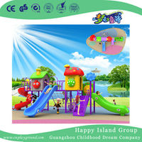 Outdoor Cartoon Plastic Slide Combination Children Playground (BBE-A71)