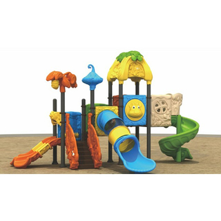 Colorful Middle Plastic Slide Animal Playground Equipment (ML-2004601)