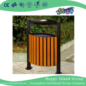 Outdoor Amusement Park Durable Wood Trash Can (HHK-15103)