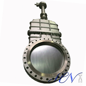 Gear Operated Carbon Steel Water Flanged Knife Gate Valve