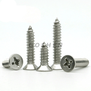 stainless steel 304 a2-70 St2.2-St6.3 Slotted countersunk head tapping screws