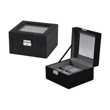 PU leather black 20 watches leather watch box