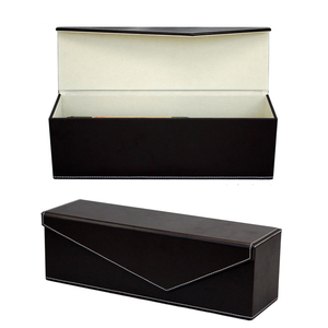 Wine Box Manufacturer PU leather promotional customed foldable single wine box