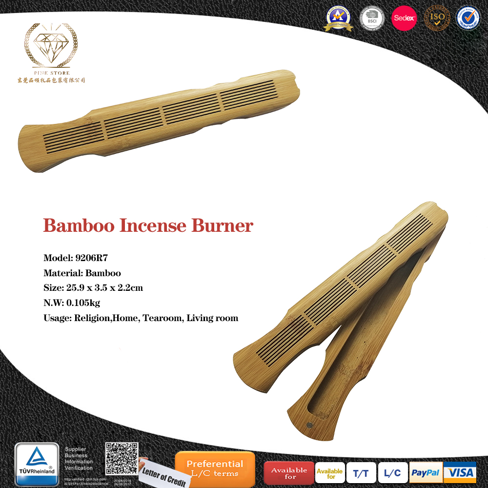 New Design Wooden Engraved Incense Burner for Sticks