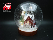 Christmas Glass Decoration in Big Size Ball Shape with Led Scene inside Led Power by AA Batteries