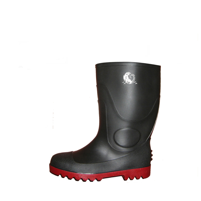 BRS oil resistant waterproof black steel toe cap safety rain boots